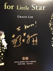 Grace Lin autograph